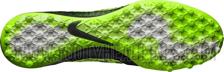 O solado da chuteira Nike Mercurial Superfly para society