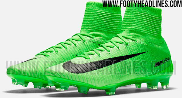 Chuteira Nike Mercurial 2017 verde limão de botinha