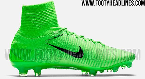 407d90b74f961 Chuteira Nike Mercurial 2017 verde limão de botinha