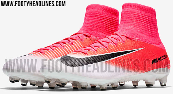 8b6a343425b Chuteira Nike Mercurial rosa de botinha 2017