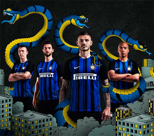 Nike apresenta a nova camisa da Inter de Milão 2017-2018