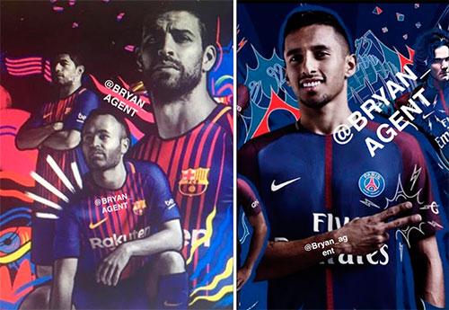 Novas camisas 2017-2018 dos times da Nike vazam na internet
